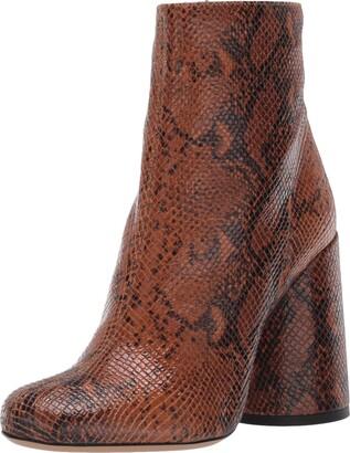 Emporio Armani Women's Snake Printed Ankle Boot