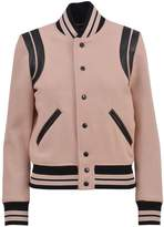 Saint Laurent Blush Pink Wool Bomber