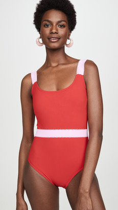 Karla Colletto Giselle Round Neck One Piece Swimsuit