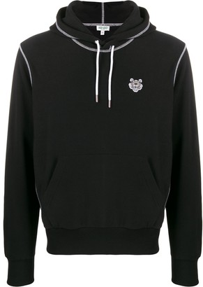 Kenzo overlocked stitched hoodie