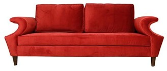 "Everly Quinn Salinas 96"" Rolled Arm Sofa with Firm Cushion"