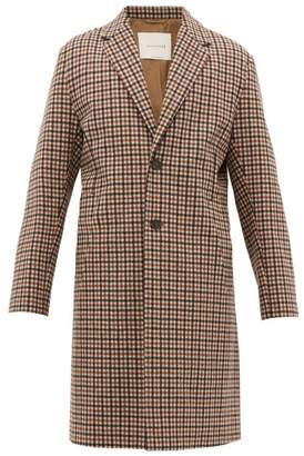 MACKINTOSH Stanley Single Breasted Checked Wool Overcoat - Mens - Black Multi