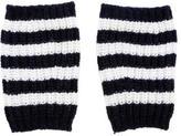 Gucci Stripe Wool Fingerless Gloves