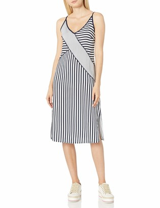 Splendid Women's Boardwalk Stripe Dress Navy XS