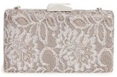 Sondra Roberts Chantilly Lace Box Clutch - Metallic