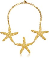Yochi Starfish Trio Necklace, 16''