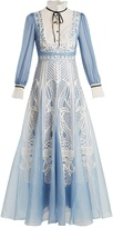 Temperley London Imperium lace-embellished silk dress