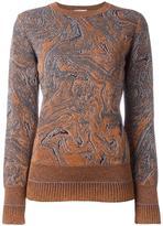 Lanvin marbled design jumper - women - Polyamide/Polyester/Spandex/Elastane/Viscose - M