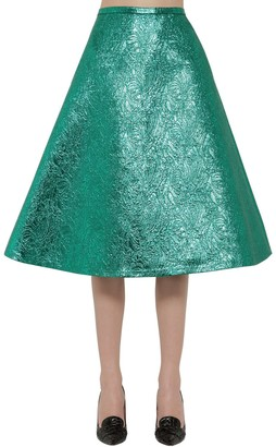 Rochas Metallic Brocade A -Line Skirt