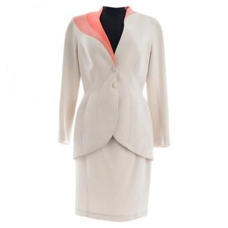 Thierry Mugler Ecru Synthetic Jackets