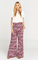MUMU Eli's Trousers ~ Plum Paisley