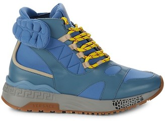 Versace Pacific Leather Hiking Boots