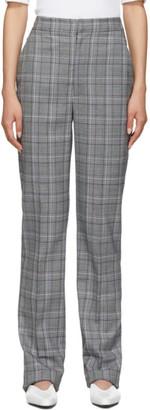 Tibi Grey Check James Menswear Sebastian Trousers