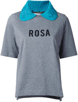 Muveil 'Rosa' collared T-shirt - women - Cotton - 38