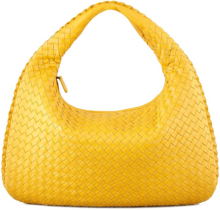 Bottega Veneta Intrecciato Medium Hobo Bag, Yellow