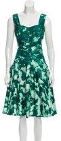 Oscar de la Renta A-Line Silk Dress