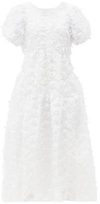 Cecilie Bahnsen Katrine Floral-applique Tulle Dress - White