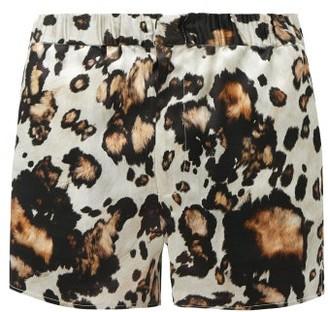 Edward Crutchley Animal-print Silk-twill Shorts - Brown Multi
