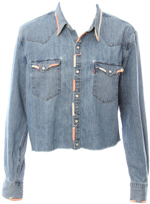 Singer22 Chambray Pearl Snap Denim Embroidered Shirt