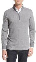 Robert Graham Alastor Chevron-Print Half-Zip Sweater, Heather Gray
