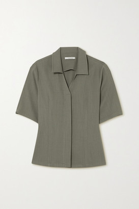 LE 17 SEPTEMBRE Crepe Shirt - Gray