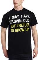 T-Line Men's Refuse To Grow Up Screen Print Tee