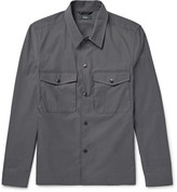 Theory Drato Stretch-shell Shirt Jacket - Charcoal