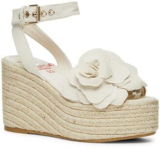 Valentino Atelier Floral Espadrille Platform Wedge Sandal