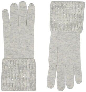 William Sharp Cashmere Crystal-Embellished Gloves