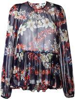 MSGM semi-sheer blouse - women - Silk/Cotton - 40