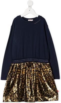 Billieblush Leopard-Skirt Sweatshirt Dress