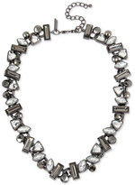 INC International Concepts Hematite-Tone Stone Cluster Collar Necklace, Only at Macy's
