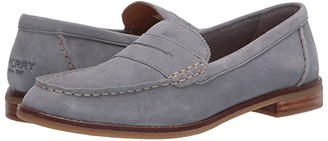 Sperry Seaport Penny Shag Nubuck (Grey) Women's Slip on Shoes