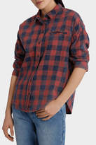 Only Elif 3/4 Sleeve Sheck Denim Shirt