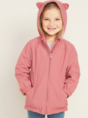 Old Navy Water-Resistant Hooded Critter Jacket for Toddler Girls