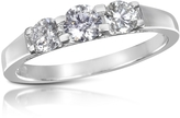 Forzieri 0.64 ctw Diamond Three-Stone 18K Gold Ring