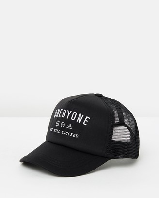 ONEBYONE - Black Caps - We Will Succeed Trucker - Size One Size at The Iconic