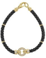 Lagos 12mm Circle Game Black Caviar Bracelet with Diamonds