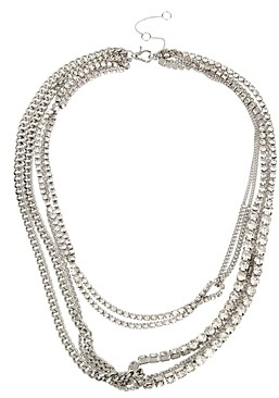AllSaints Stone Layered Necklace, 17-20