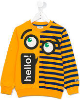 Fendi Hello sweatshirt - kids - Cotton/Spandex/Elastane - 3 yrs