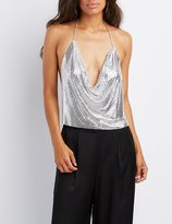 Charlotte Russe Chainmail Halter Crop Top