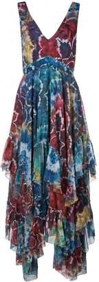 Alice + Olivia Alice+Olivia tie-dye kaleidoscope dress
