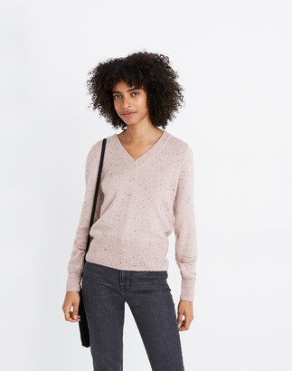 Madewell Donegal Westgate V-Neck Sweater in Coziest Yarn