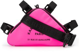 Karl Lagerfeld Paris Rue St Guillaume triangle cross body bag