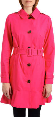 Kate Spade Belted Peplum Trench Coat