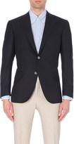 Corneliani Single-breasted hopsack wool jacket