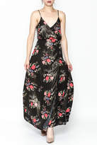 Honeybelle honey belle Floral Metallic Maxi Dress