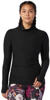 New Balance Transform Cowl Tunic (Black) Women's Clothing