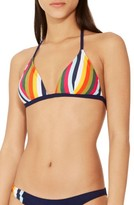 Tory Burch Women's Stripe Bikini Top