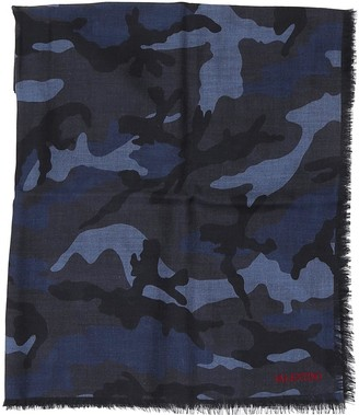 Valentino Camouflage Printed Scarf
